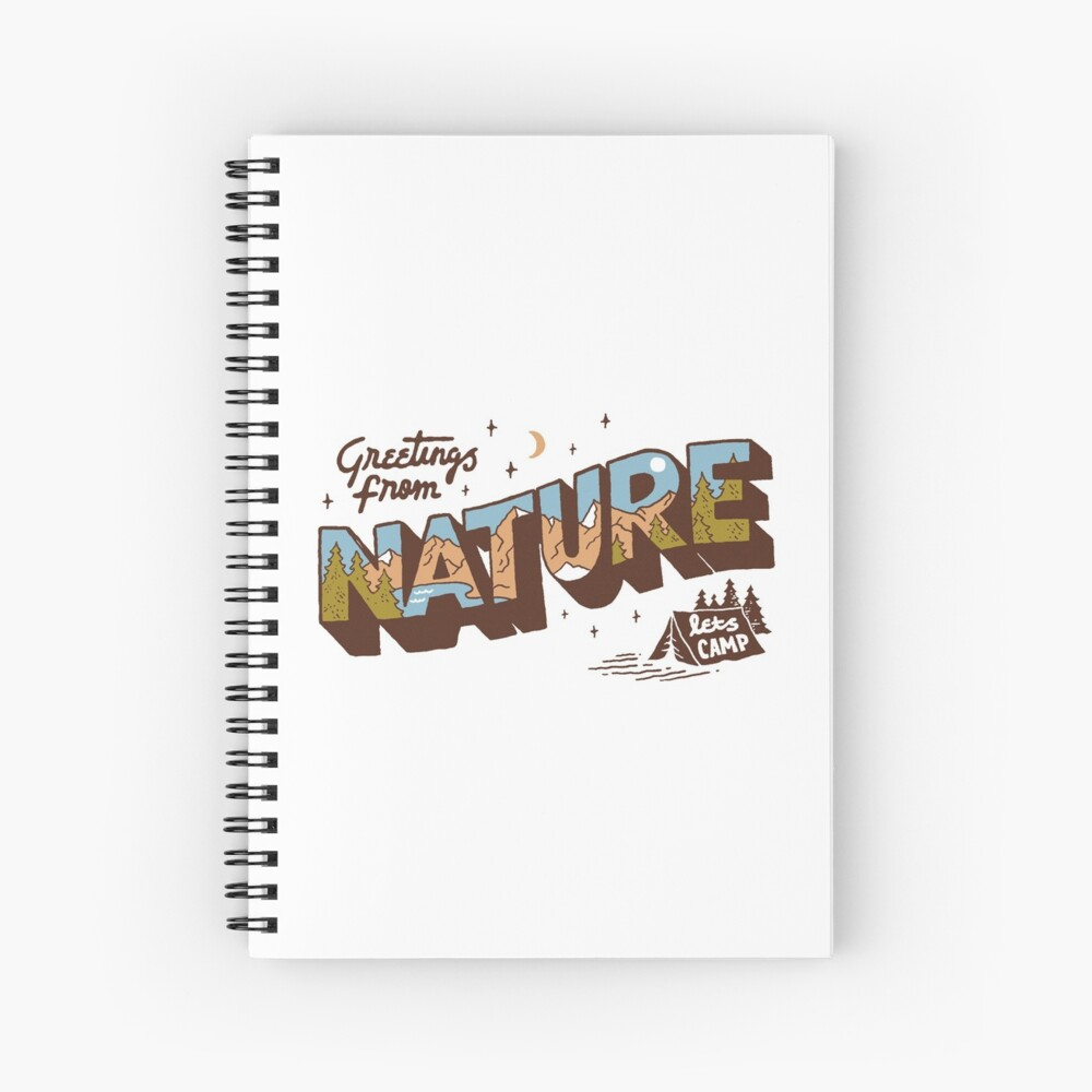 Nature Greetings Spiral Notebook