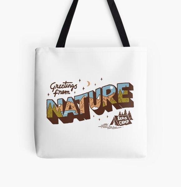Nature Greetings All Over Print Tote Bag