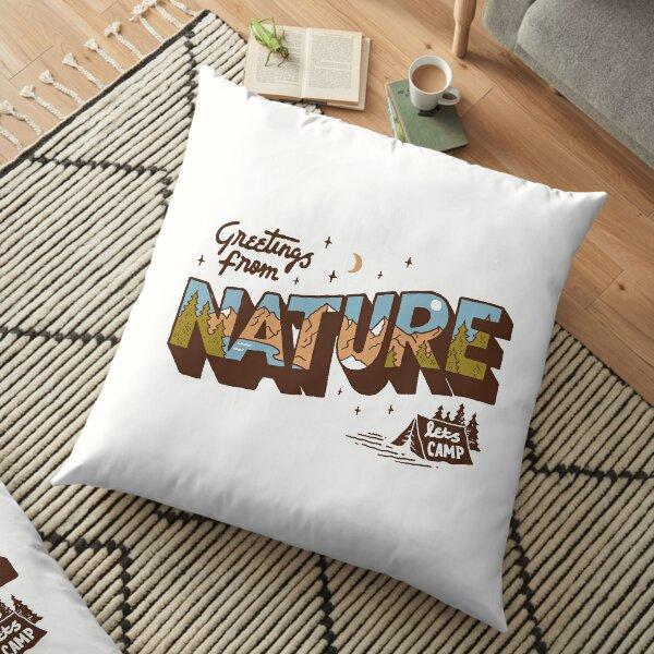 Nature Greetings Floor Pillow
