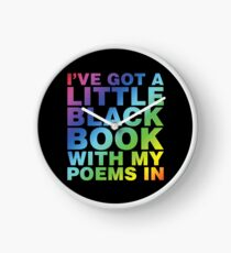 A Little Black Book Clock