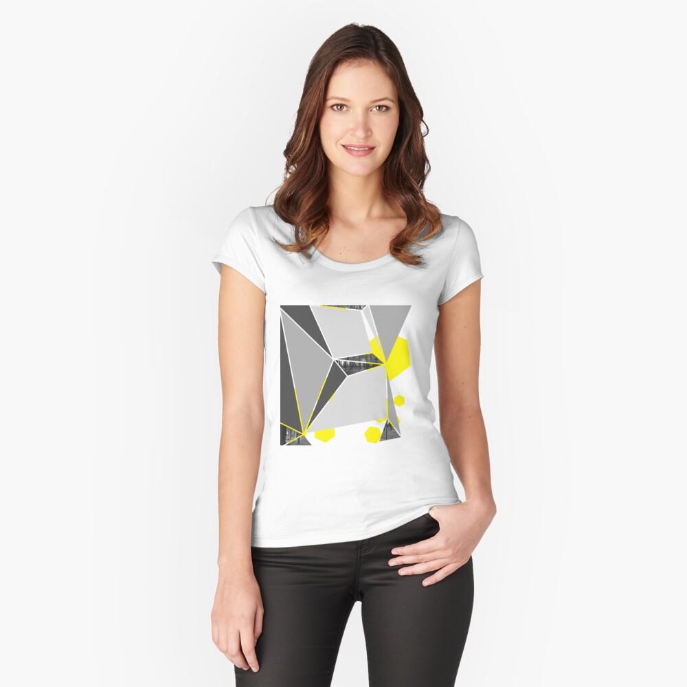Fraktur Tailliertes Rundhals-Shirt