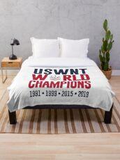 USWNT Champions Throw Blanket