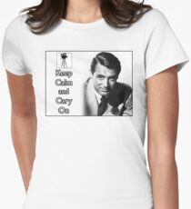 Keep Calm and Cary On Women's Fitted T-Shirt
