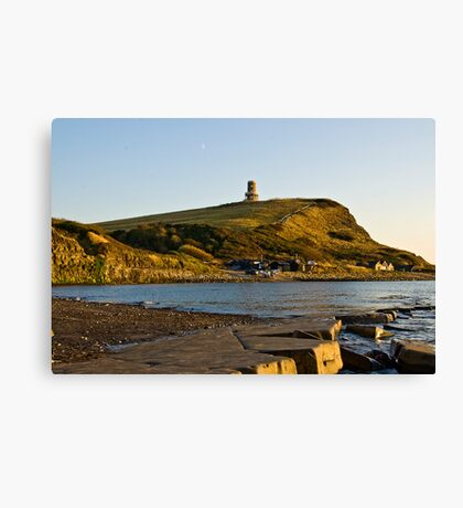 Sunsetting at Kimmeridge bay Canvas Print