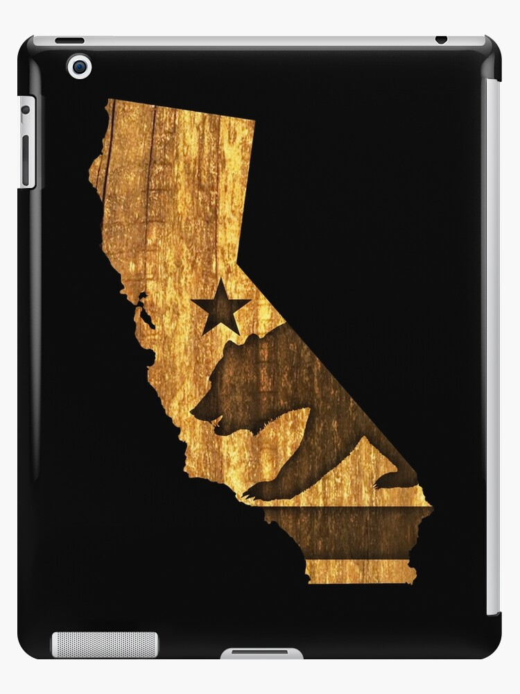 California State Flag US State Wood iphone case