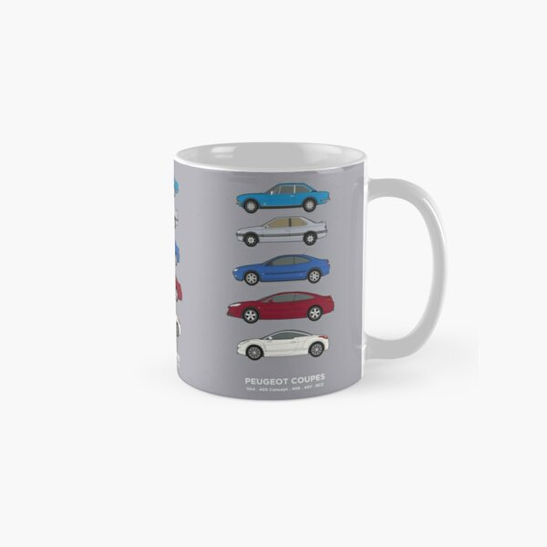 Peugeot coupes classic car collection 504, 405 concept, 406, 407, RCZ Classic Mug