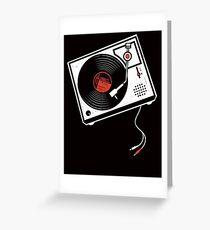 Record Player Audio Analog Vinyl Old School Music Geek Vintage Design Greeting Card