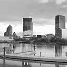 Milwaukee, Wisconsin in Gray by Meigel Art