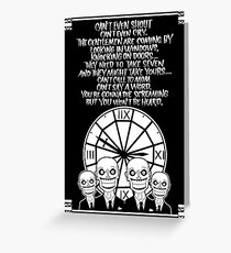 HUSH Clocktower poster Greeting Card
