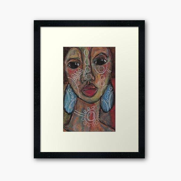 Pastel Portrait - S66 Framed Art Print