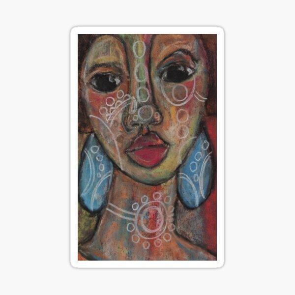 Pastel Portrait - S66 Sticker