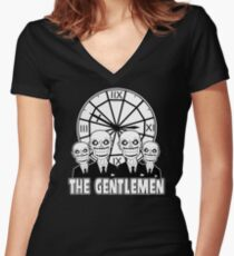 The Gentlemen Logo Women's Fitted V-Neck T-Shirt