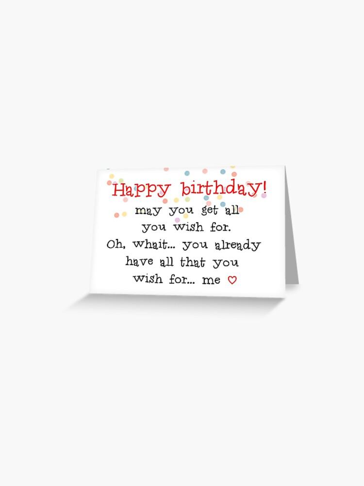 Happy Birthday Husband Boyfriend Wife Girlfriend Best Friend Gift Ideas Greeting Card By Avit1 Redbubble