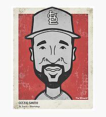 Ozzie Smith Caricature Photographic Print