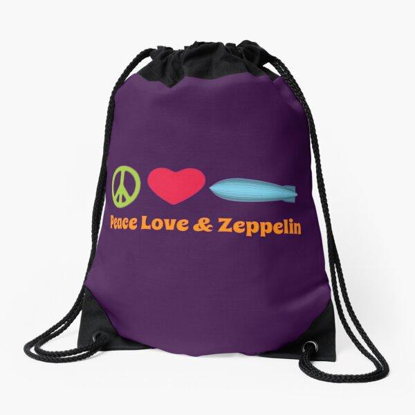 Peace Love & Zeppelin Drawstring Bag
