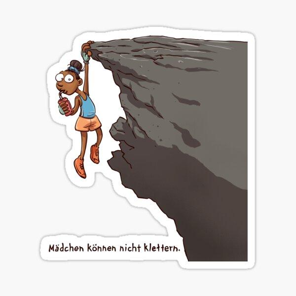 Mädchen können nicht klettern Sticker