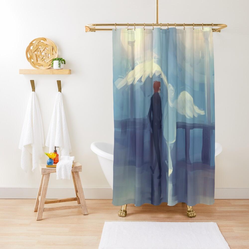 rainy day romance Shower Curtain