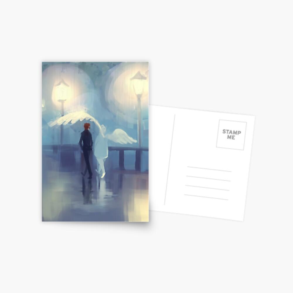 rainy day romance Postcard