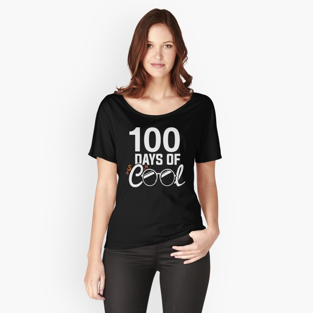 100. Schultag Shirt, 100 Tage cool Loose Fit T-Shirt
