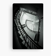 Staircase in an old water tower (B&W) Canvas Print