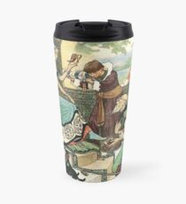 I AM ABLE TO DO EVERYTHING SAID THE MAN from the story THE KINGDOMS OF COPPER, SILVER, AND GOLD in The Russian Story Book  Travel Mug