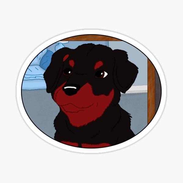 Waiting Rottweiler Pup  Sticker