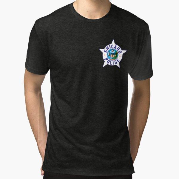 Insignia de la policía de Chicago Camiseta de tejido mixto