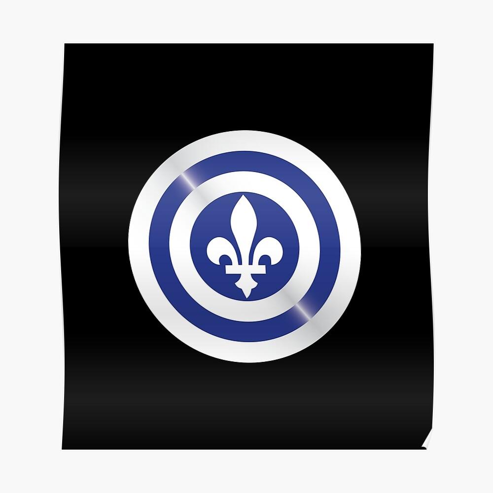 Capitán Quebec Shield - Nuevo Superhéroe Póster