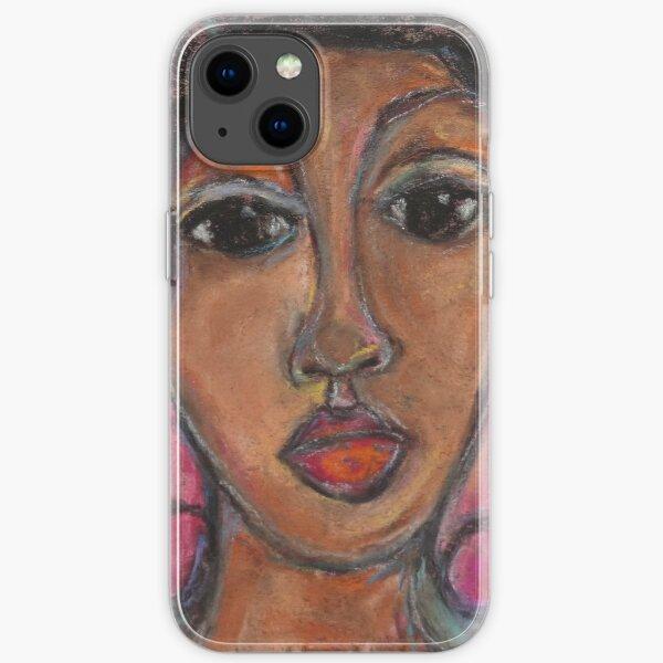 Pastel Portrait - S70 iPhone Soft Case