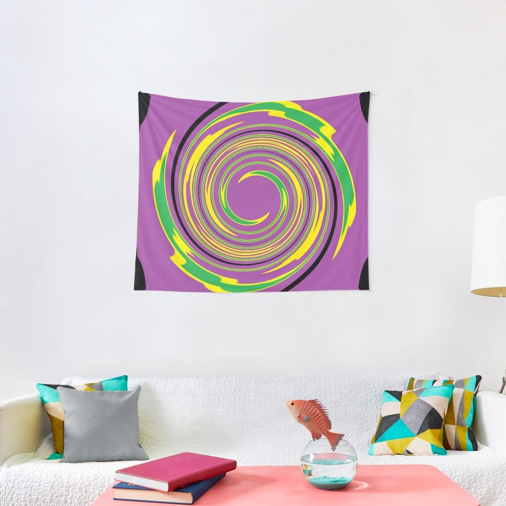 #vortex, #design, #spiral, #creativity, fun, illustration, shape, color image, circle, geometric shape Tapestry