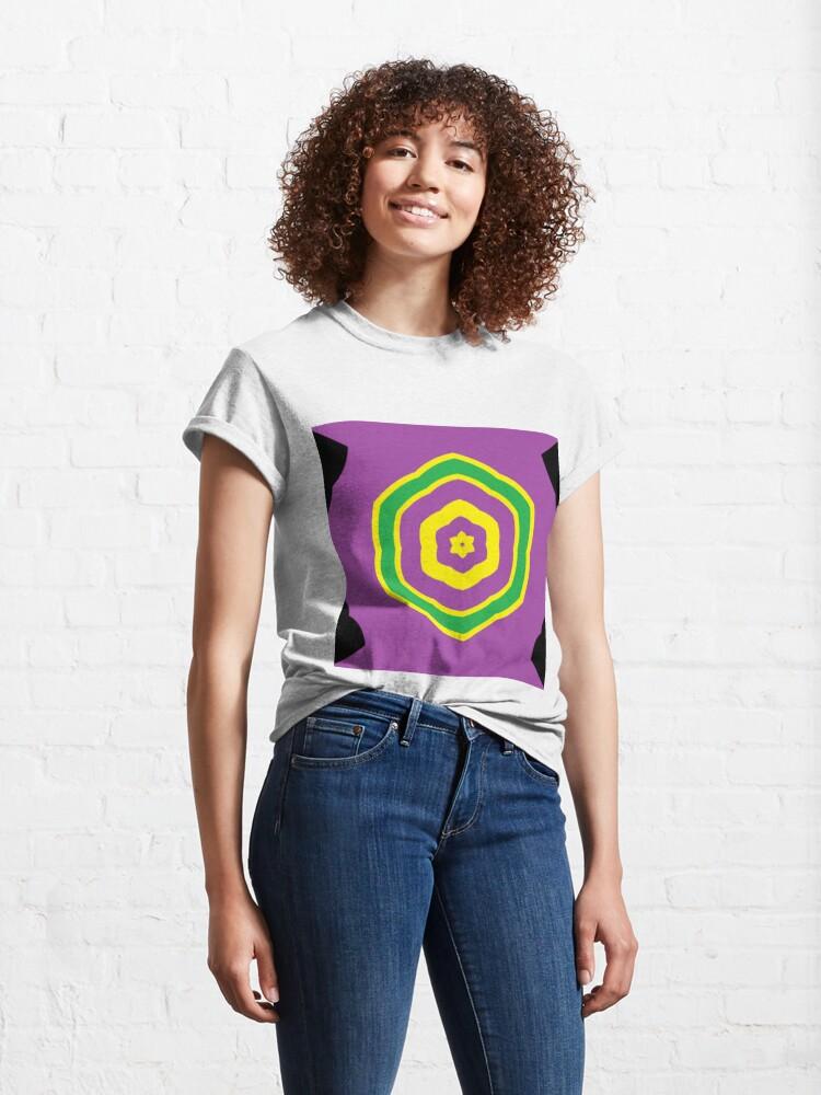 Alternate view of #vortex, #design, #spiral, #creativity, fun, illustration, shape, color image, circle, geometric shape Classic T-Shirt