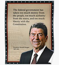 Reagan Quotes | Ronald Reagan Quotes Poster Redbubble
