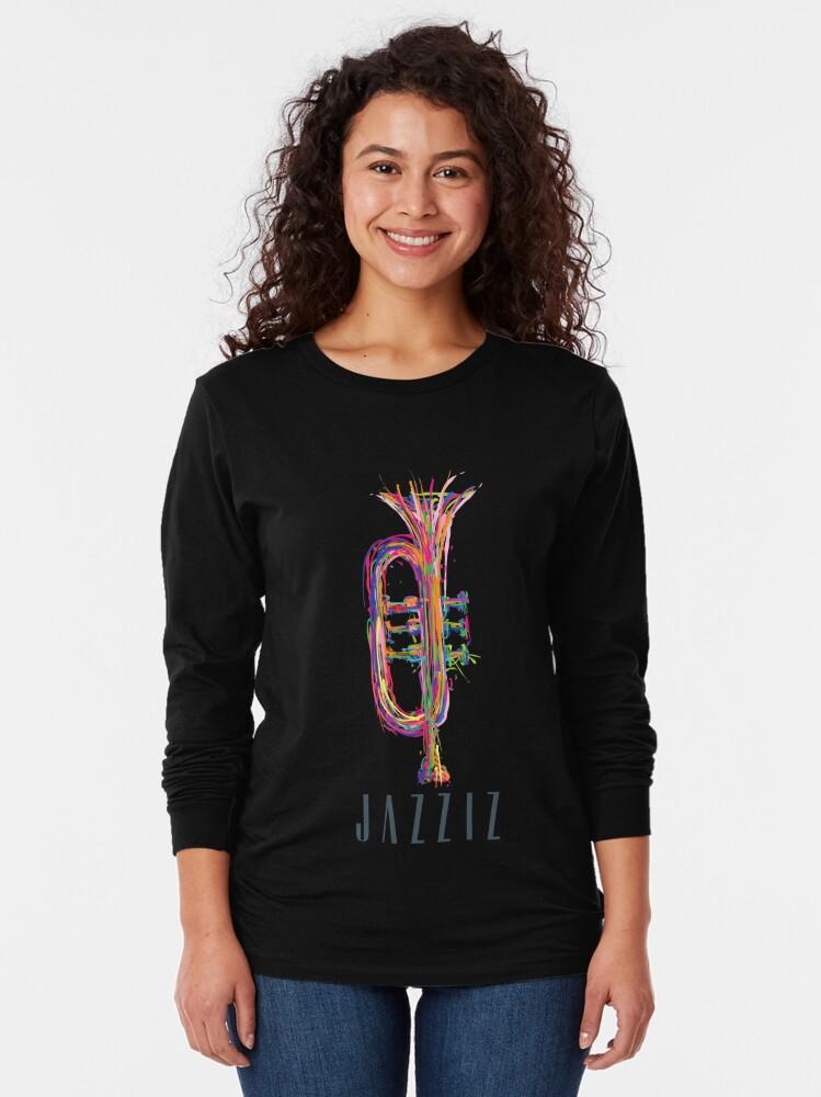 "Alternate view of JAZZIZ ""Trumpet"" Long Sleeve T-Shirt"