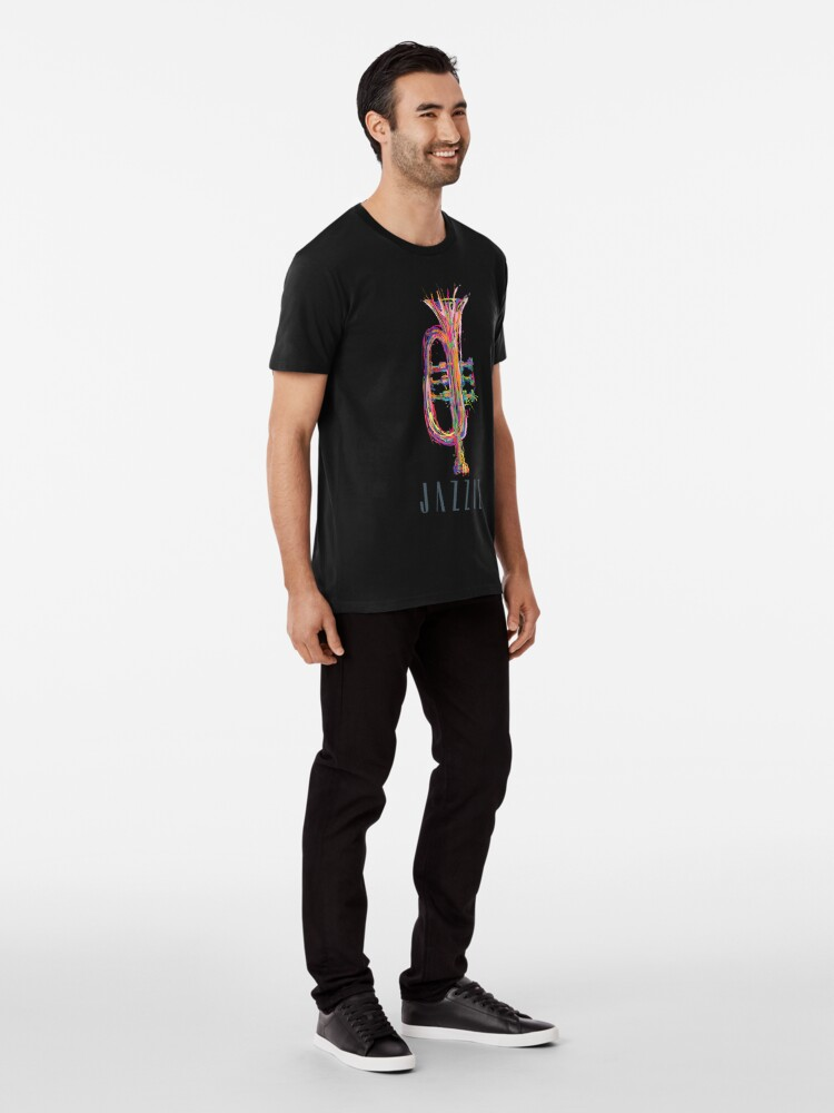 "Alternate view of JAZZIZ ""Trumpet"" Premium T-Shirt"
