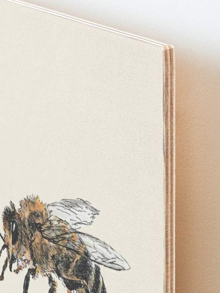 Alternate view of Honey Bee Mounted Print