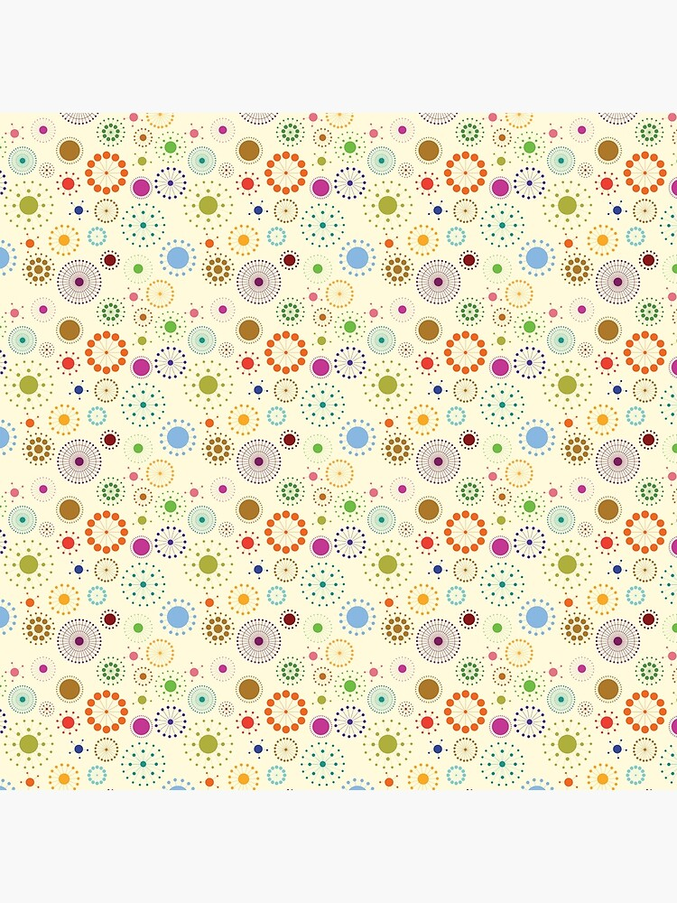 Decorative circles. Print,cloth design, fabric by starchim01