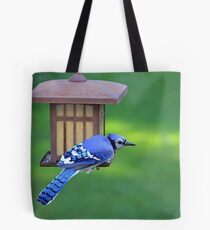 Blue Jay Snack Time Tote Bag