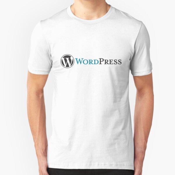 BEST SELLER - Wordpress Logo Merchandise Slim Fit T-Shirt
