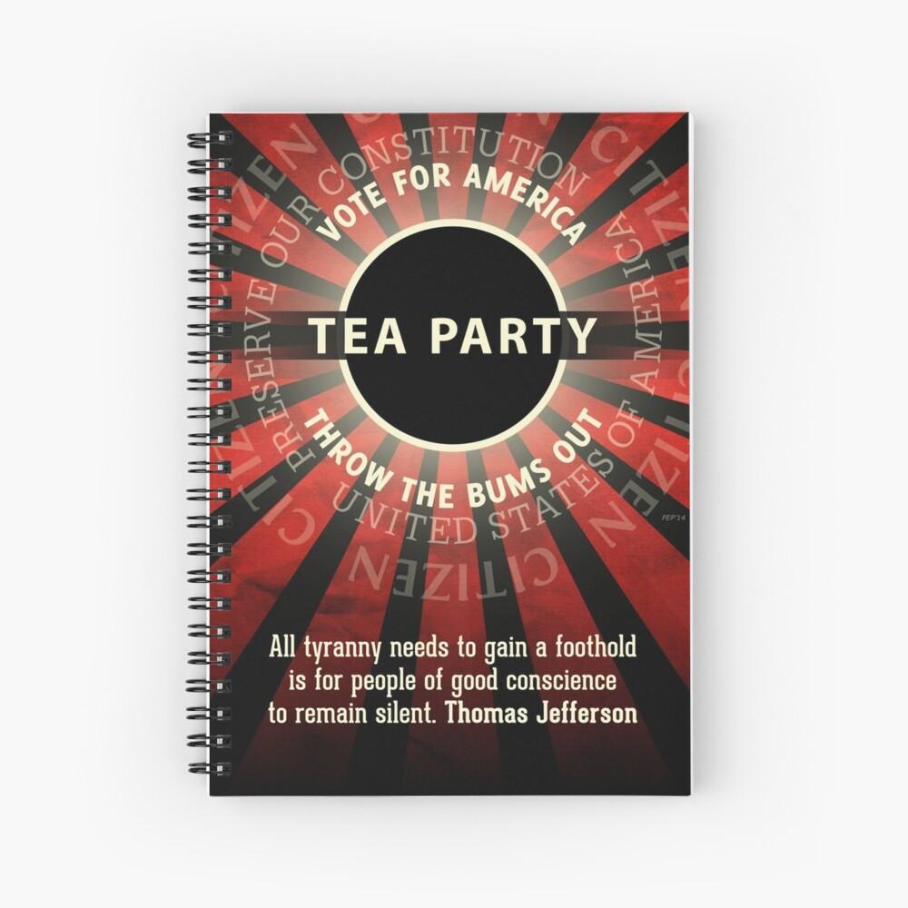 Thomas Jefferson Tea Party Spiral Notebook