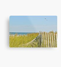A Kite Flys Over the Sand Doons - Narragansett - RI - US Metal Print