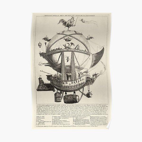Montgolfière vintage, vers 1780 Poster