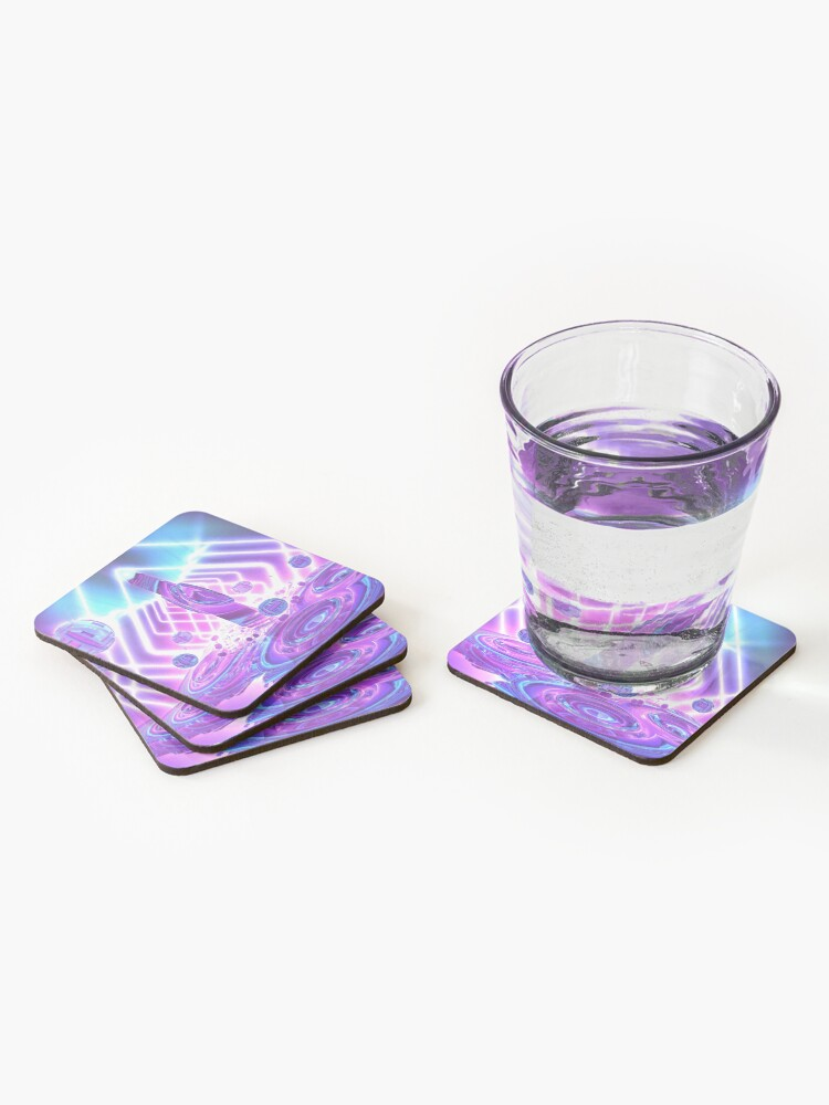 Alternate view of Quantum Jump by Spaced Painter Coasters (Set of 4)