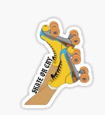 Schlittschuh laufen oder weinen Sticker