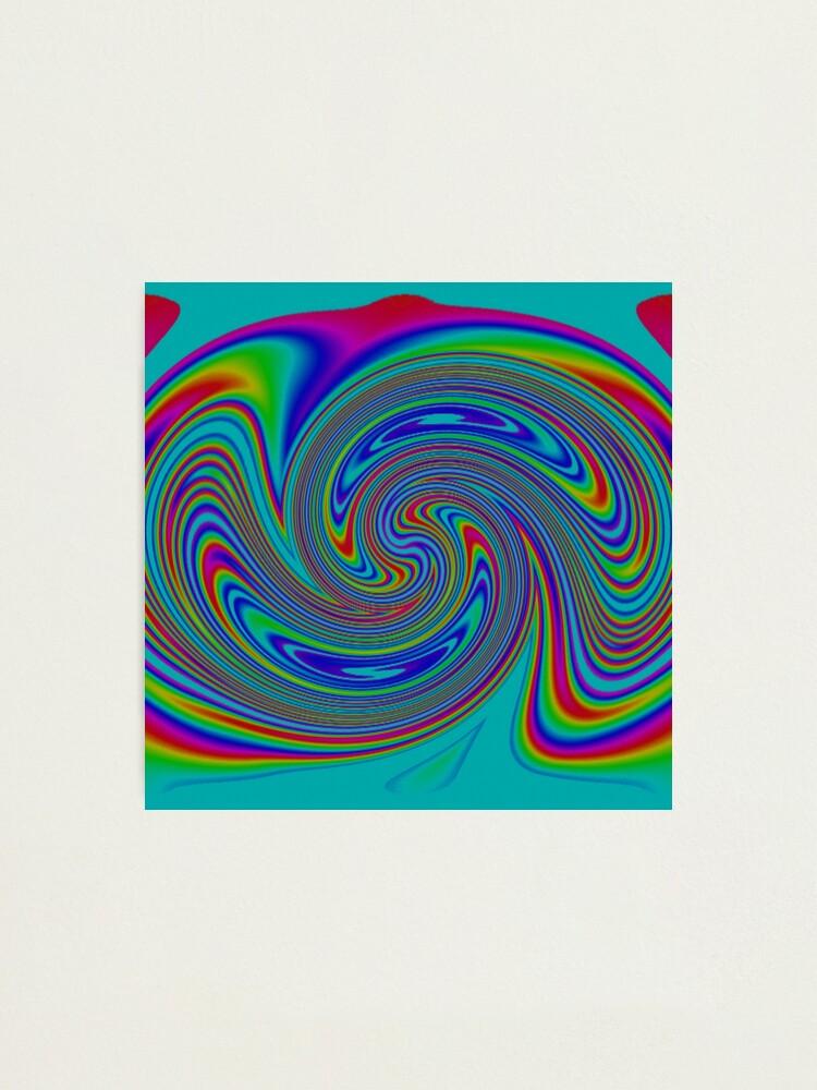 Alternate view of #vortex, #design, #spiral, #creativity, fun, illustration, shape, color image, circle, geometric shape Photographic Print