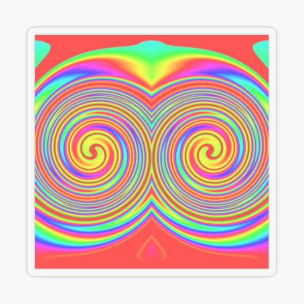 #vortex, #design, #spiral, #creativity, fun, illustration, shape, color image, circle, geometric shape Transparent Sticker
