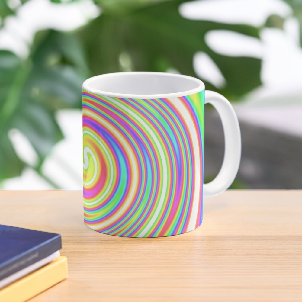#vortex, #design, #spiral, #creativity, fun, illustration, shape, color image, circle, geometric shape Mug