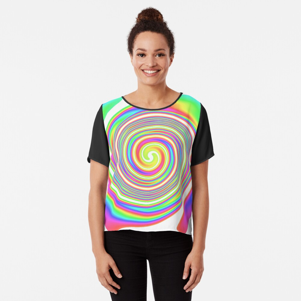 #vortex, #design, #spiral, #creativity, fun, illustration, shape, color image, circle, geometric shape Chiffon Top