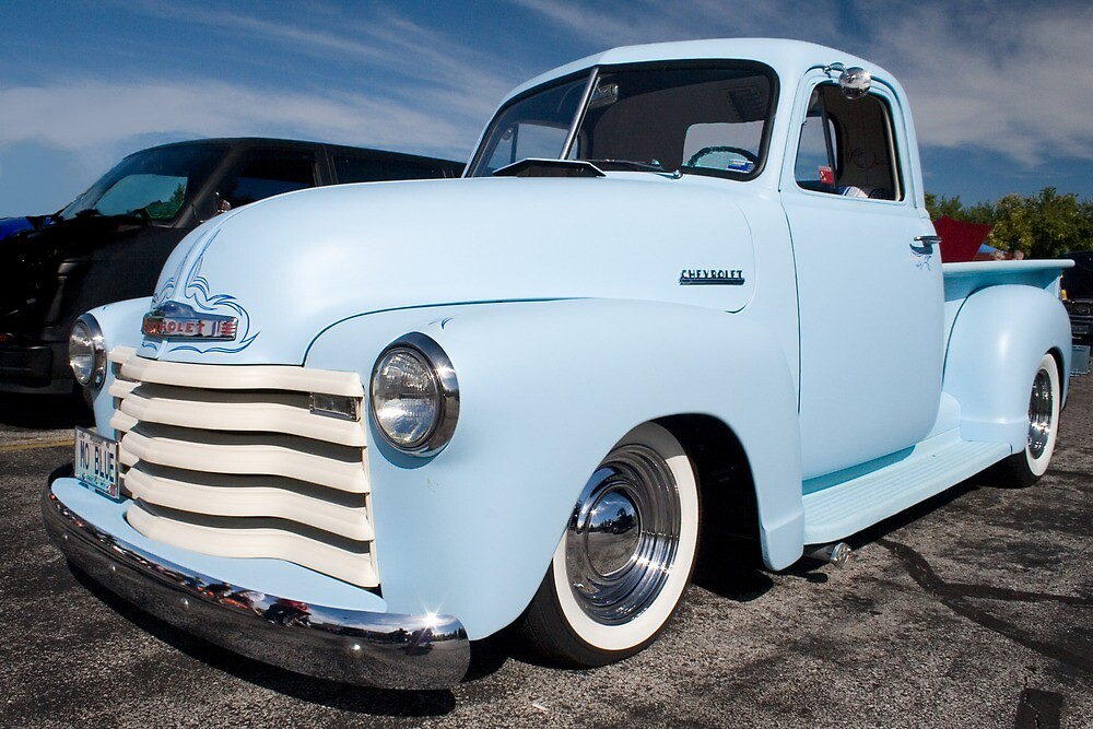 Quot Quot Mo Blue Quot 1948 Chevy Pu Quot By Chuckbruton Redbubble