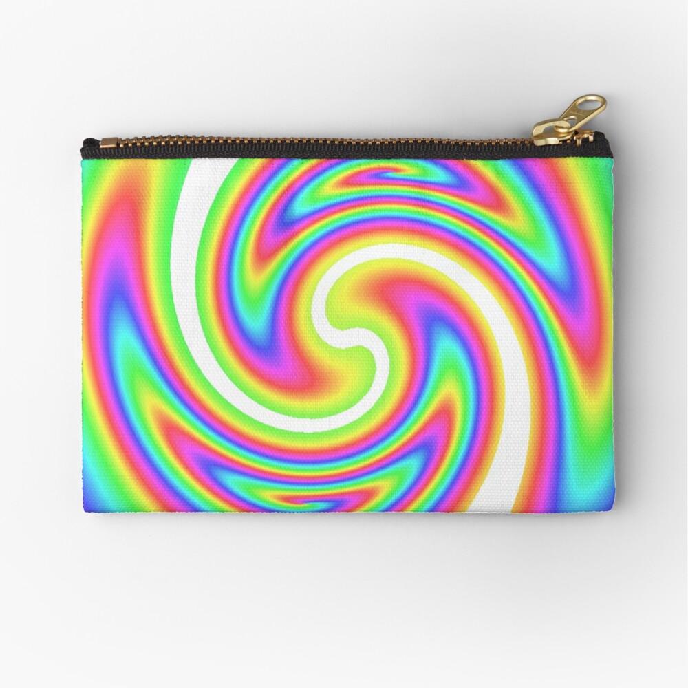 #vortex, #design, #spiral, #creativity, fun, illustration, shape, color image, circle, geometric shape Zipper Pouch