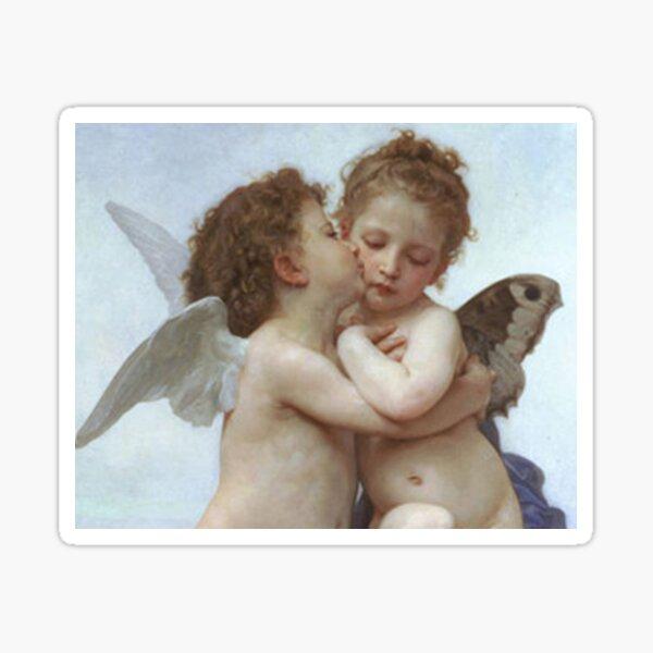 angelitos besandose Pegatina